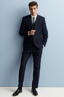 NEXT Donegal Navy Suit (Jacket 44R, Trousers 36S)
