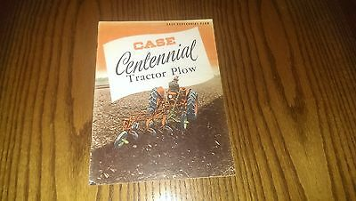 Vintage IH J.I. Case Centennial Tractor Plow Brochure Catalog Farm Advertising