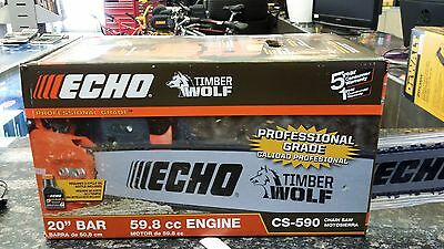 "*NEW* Echo CS-590 Timber Wolf Chainsaw 20"" Bar 59.8cc Engine"