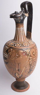 Ancient Apulian South Italian Red-Figure Pottery Jug Ca. 350 B.C. Size:13 1/4 in