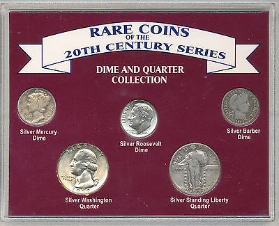US RARE COINS OF THE 20th CENTURY SILVER DIME AND QUARTER COLLECTION