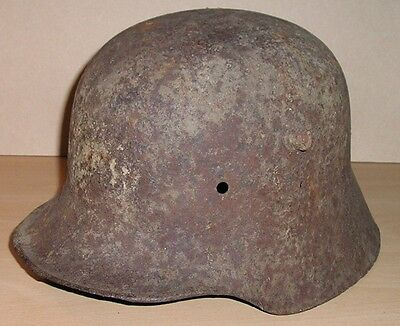 Original WW-I German Infantry M.16 Helmet Shell from The Western Front 1916-18