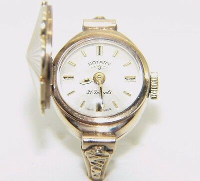 Women's / Ladies 9 Ct Gold Rotary Ring Watch