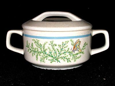 Lenox China Temper-Ware Butterfly FANCY FREE Covered Sugar Bowl USA