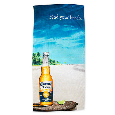 "Deluxe Corona Extra ""Find Your Beach"" Beach Towel - 28"" x 58"" - New With Tags"