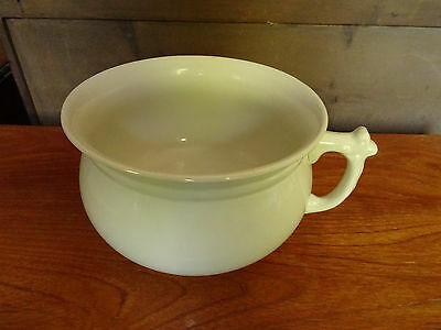Vintage white china chamber pot in perfect condition