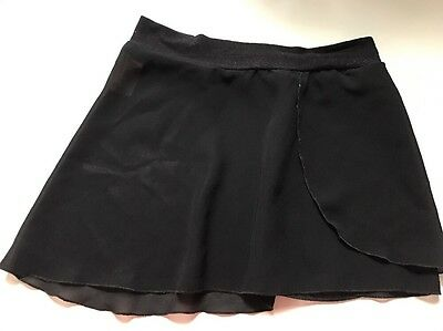 Mirella Dance Skirt Girls Small Black Sheer