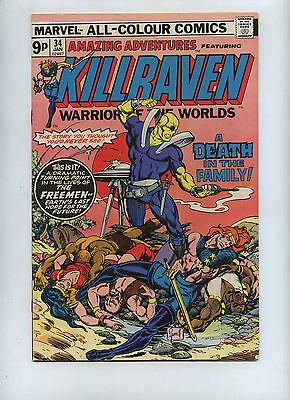 amazing adventures Kilraven  34 1976 (last warrior of the worlds.)