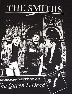 """The Smiths The Queen Is Dead Poster Flag Vintage 80's Rare!!!  55"""" X 34.5"""" Large"""