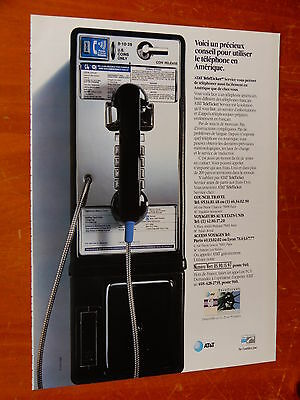 French 1993 At&t Phoning In United States With Pay Phone Ad - Retro 1990S