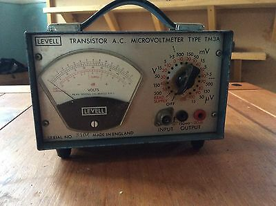 Levell TM3A transistor AC AUDIO Microvoltmeter