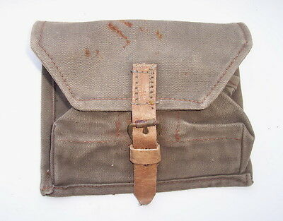 Original WW2 Russian Soviet soldier F1 3 sections tissue pouch
