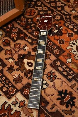 Vintage 1960s Harmony USA H75 H76 Tobacco Sunburst Guitar Neck Spares or Repairs