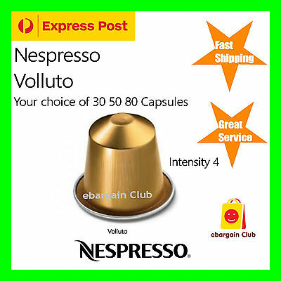 30 50 80 Capsules Nespresso Coffee Volluto Pods (Sweet and Light)  eBClub