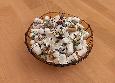 150 Bone China Thimbles, For The Real Collectors. Lot 1 (See Details)