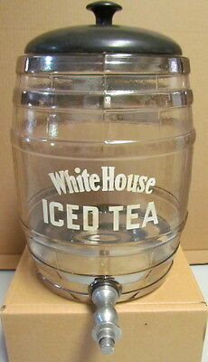 Antique White House Brand Iced Tea Countertop Glass Dispenser Dwinell Wright