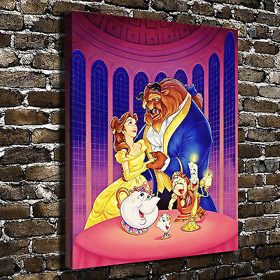Disney Beauty and the Beast Paintings HD Print on Canvas Home Decor Wall Art