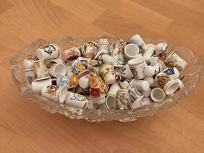 150 Bone China Thimbles, For The Real Collectors. Lot 2 (See Details)