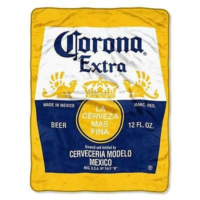 "Corona Extra Super Plush Beach Blanket - 54"" x 68"" - New With Tags"