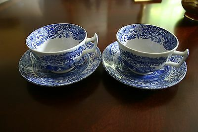 A Lovely Pair of Spode Italian cups and saucers MINT!