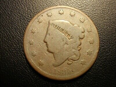 1835 liberty head large cent, small 8 and stars