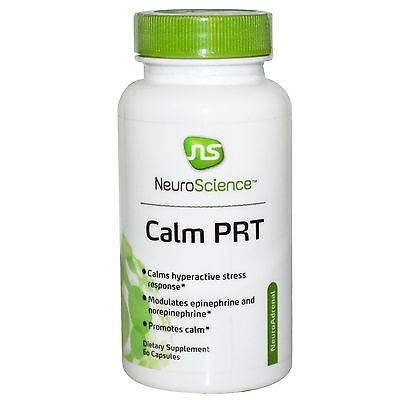 NF12 NeuroScience Inc. Calm PRT, Dietary Supplements Stress Formulas 60 Capsules
