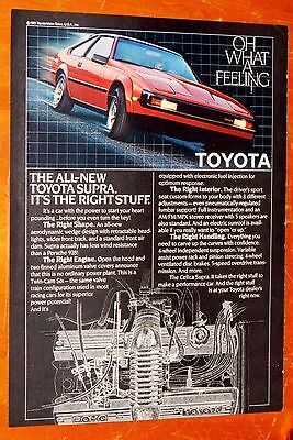 Sweet 1981 Toyota Supra In Red With Motor Illustration Ad - Retro 80S Vintage