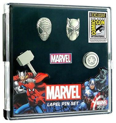 2017 SDCC Marvel lapel Pin Set