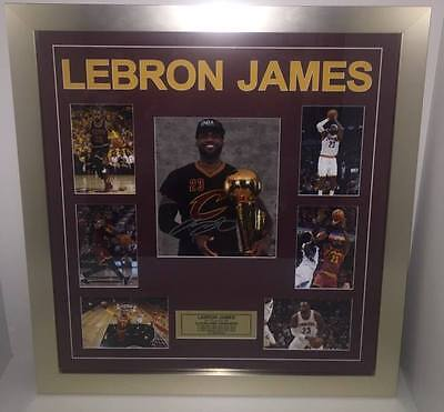 Lebron James Hand Signed Photo Collage Cleveland Cavaliers Nba Mvp Basketball