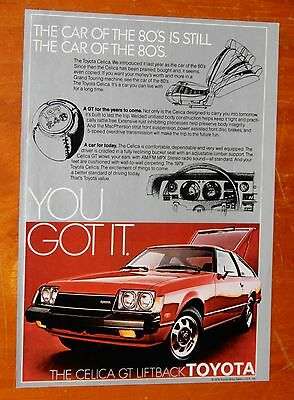Cool 1979 Toyota Celica Gt In Red American Ad - Retro 70S Vintage