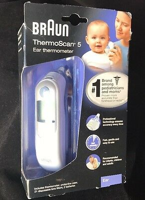New Braun Ear Thermometer Thermoscan 5 IRT 6500 Damaged Box!!!