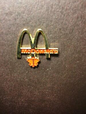 McDonald's Pinback Canada Maple Leaf Golden Arches