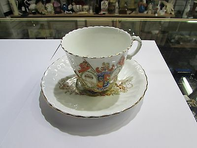 1902 King Edward VII Coronation cup and saucer