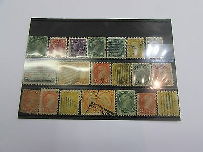 Selection of early Canada stamps