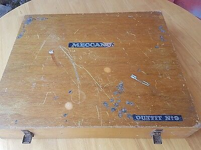 Meccano outfit no9 original box wooden storage box number 9