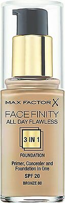 Max Factor Facefinity 3 in 1 Flawless Foundation 30ml - (Choose Your Shade)