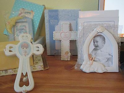 Precious moments Frames and Baby Crosses Lot of 6 New never out of boxes