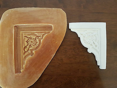 Ornate corner rubber latex mould mold wall decor plaque embellishment pediment