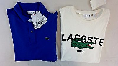 NWT Macys Lacoste Mix Lot of 2 Men's Short Slv Polo/T-Shirt XL EUR 6 BJ18169