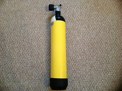 Diving equipment.3 litre 232 bar steel dive tank / pony cylinder..DIN or A clamp