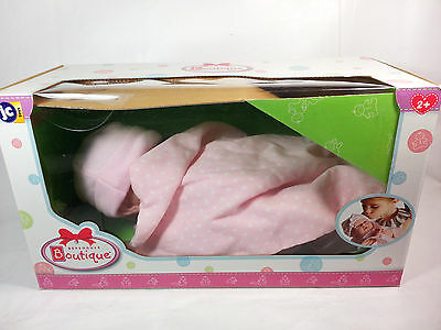 "JC Toys, 18541, La Newborn Boutique 14"" Doll, 9 Piece Set, Real Girl in Pink"