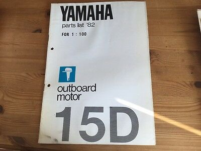 Yamaha outboard motor parts list 1982 - model 15D