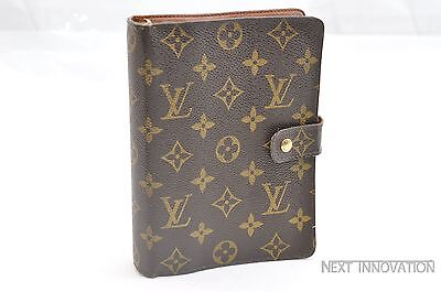 Authentic Louis Vuitton Monogram Agenda MM Day Planner Cover R20004 LV 35464