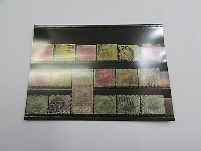 Selection of early Western Australia stamps