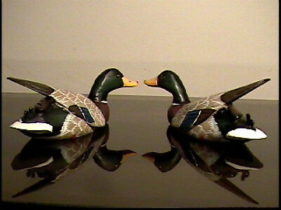 "A pair of 6"" flying ducks, hand-made in early 90's"