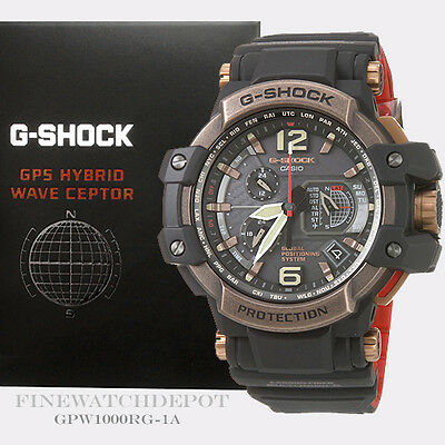 Authentic Casio G-Shock Mens GPS Sky Cockpit Military Watch GPW1000RG-1A