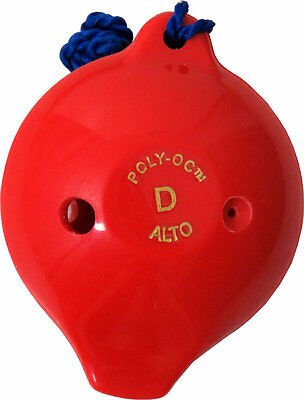 Langley 6 hole plastic OCARINA in RED great for Children/School. From Hobgoblin