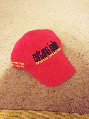 Elton john cap RED memorabilia from 18th june 2005 RARE