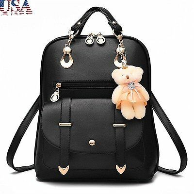 Lovely Fashion Women Leather Backpacks Students Rucksack Travel Bag School Bags