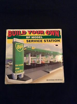 Build your Own BP Gas Service Station Car Wash Toy Model Kit Set 1995 NIB  #014